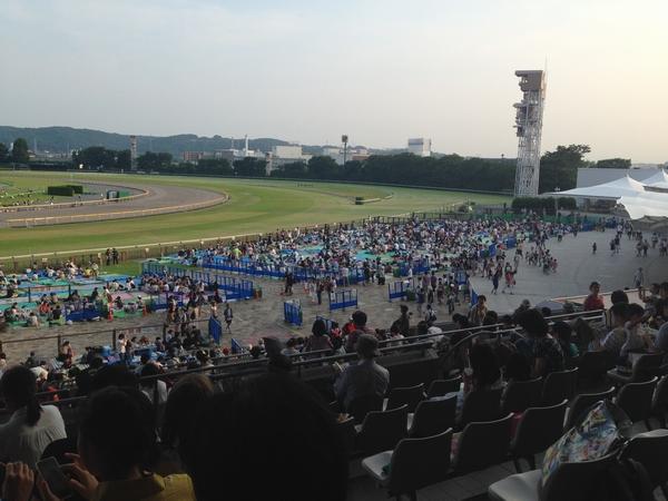 東京競馬場 花火大会の混雑状況 17:00時点